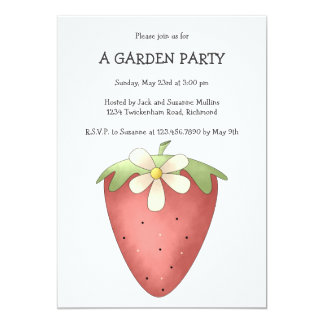 Welcome Spring · Strawberry & Flower Invitation