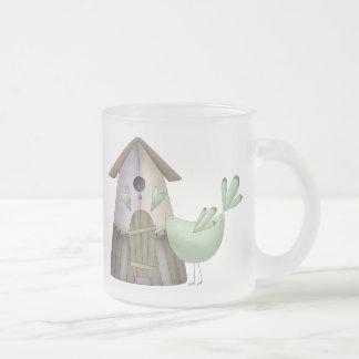 Welcome Spring · Teal Bird & Birdhouse Mugs