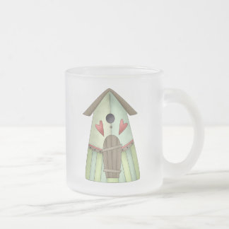 Welcome Spring · Teal Birdhouse Mugs