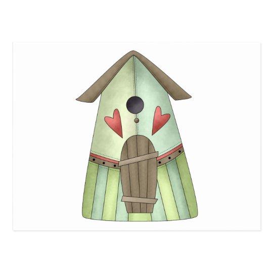 Welcome Spring · Teal Birdhouse Postcard