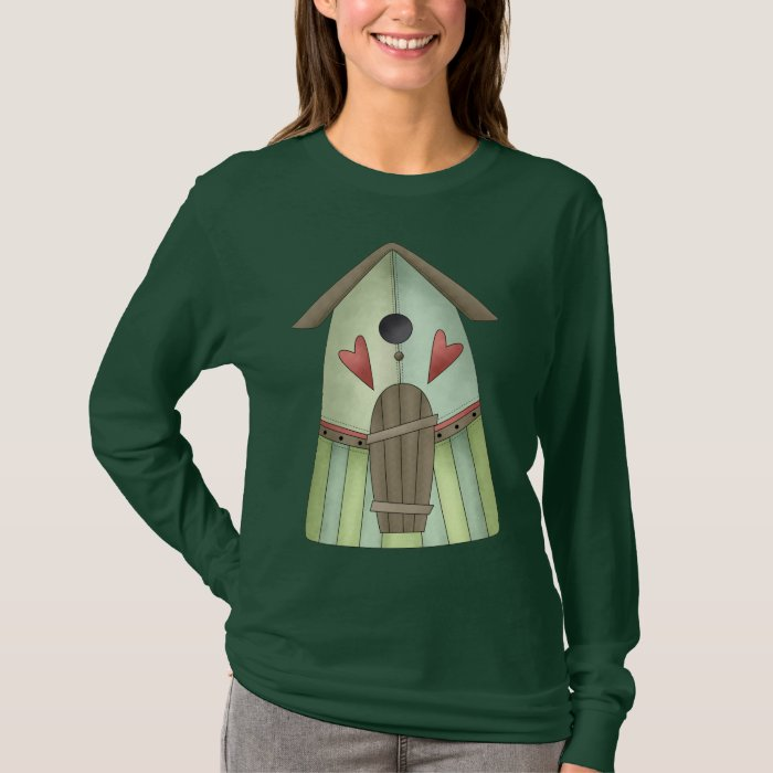 Welcome Spring · Teal Birdhouse T-Shirt