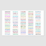Welcome Stickers : 80 Languages / White