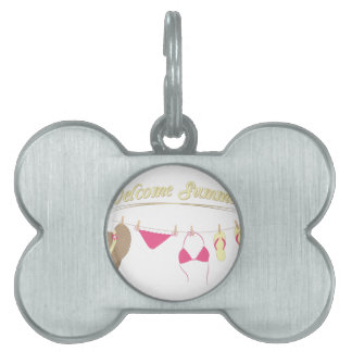 Welcome Summer Pet Name Tag