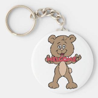 Welcome Teddy Bear Keychain