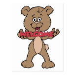 Welcome Teddy Bear Postcard