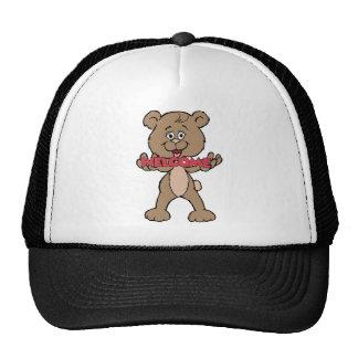 Welcome Teddy Bear Trucker Hat