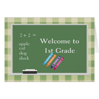 Welcome to 1st Grade Card
