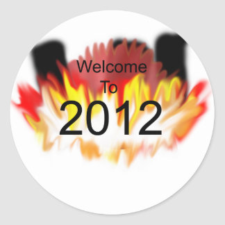 Welcome to 2012 classic round sticker