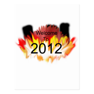 Welcome to 2012 postcard