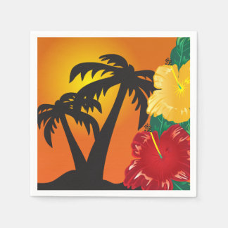 Welcome to a Beautiful Tropical Paradise Standard Cocktail Napkin