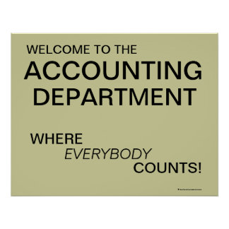 Welcome to Accounting Department poster
