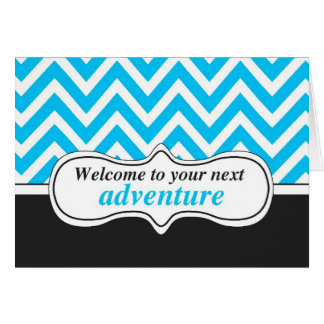 Welcome to Adventure, New Home Congratulations Stationery Note Card