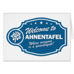Welcome To Ahnentafel Greeting Cards