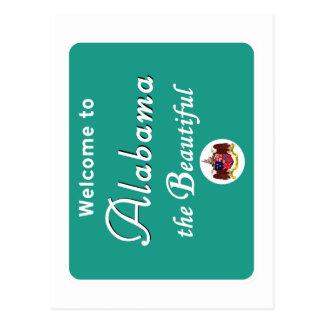 Welcome to Alabama - USA Road Sign Postcard