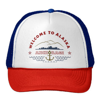 Welcome to Alaska. Anchorage - Color Logo Trucker Hat