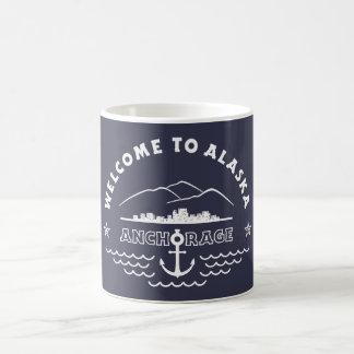 Welcome to Alaska. Anchorage - White Logo Coffee Mug