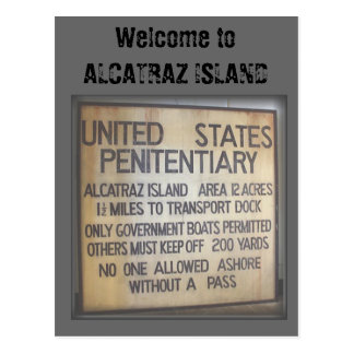 Welcome to ALCATRAZ Postcard