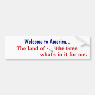 Welcome to America Bumper Stickers