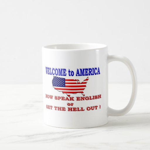 WELCOME TO AMERICA CLASSIC WHITE COFFEE MUG