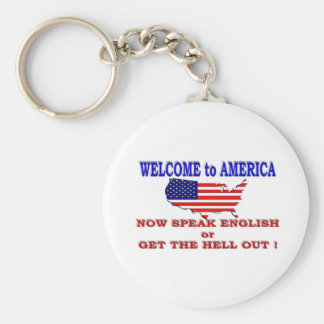 WELCOME TO AMERICA KEYCHAIN