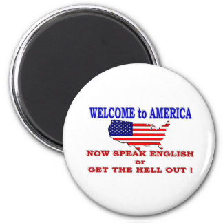 WELCOME TO AMERICA 2 INCH ROUND MAGNET