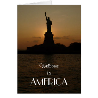 Welcome to America/Statue of Liberty+New Citizen Greeting Card