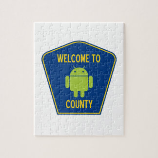 Welcome To Android (Bugdroid) County Sign Puzzle