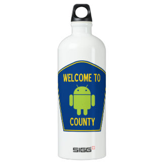 Welcome To Android (Bugdroid) County Sign SIGG Traveler 1.0L Water Bottle