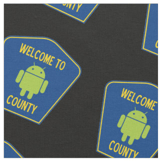Welcome To Android County Bug Droid County Sign Fabric