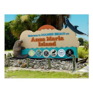 Welcome to Anna Maria Island Sign Postcard