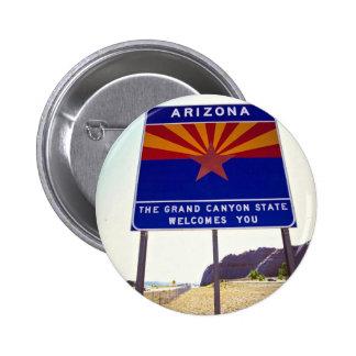 Welcome to Arizona sign at Lupton, Arizona Desert Pin