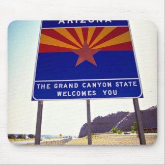 Welcome to Arizona sign at Lupton Arizona Desert Mouse Pads