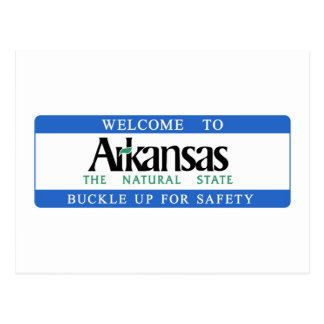 Welcome to Arkansas - USA Road Sign Postcard