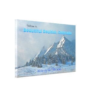 Welcome to Beautiful Boulder, Colorado Canvas Print
