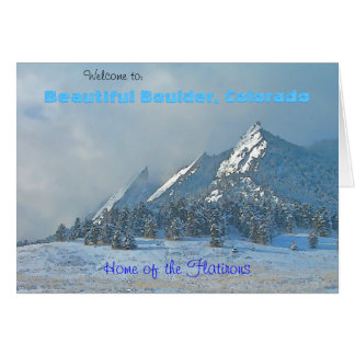 Welcome to Beautiful Boulder, Colorado Greeting Card