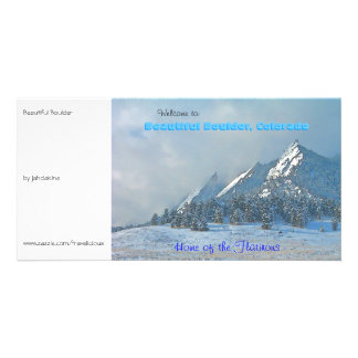 Welcome to Beautiful Boulder, Colorado Photo Card