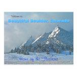 Welcome to Beautiful Boulder, Colorado Postcards