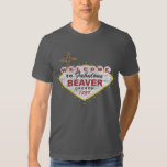 Welcome to Beaver Oregon Retro Grunge State Love Tee Shirt