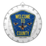 Welcome To Bees County (Three Bees County Sign) Dartboard