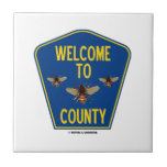 Welcome To Bees County (Three Bees County Sign) Tiles