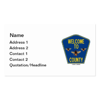 Welcome To Bees County (Three Bees Sign) Business Card