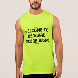 WELCOME TO BEOGRAD SLEEVELESS SHIRT