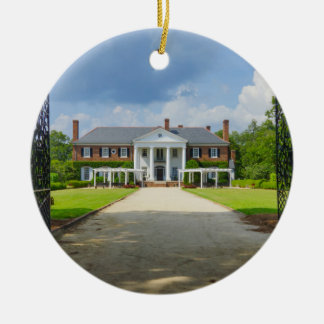 Welcome to Boone Hall Double-Sided Ceramic Round Christmas Ornament