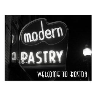 Welcome To Boston - neon noir Postcards