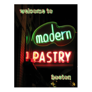 Welcome To Boston - neon Postcard