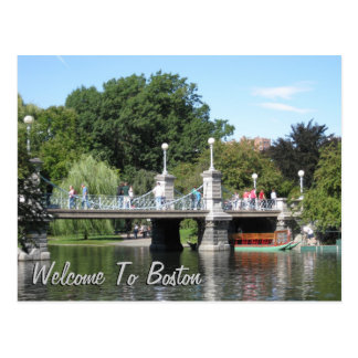Welcome To Boston Postcard