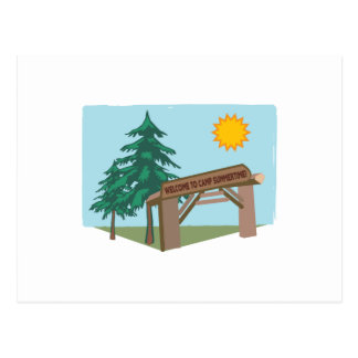 Welcome To Camp Summertime! Post Card
