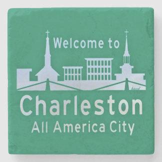 Welcome To Charleston, Charleston, SC Coaster. Stone Coaster