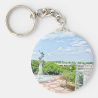 Welcome to Charlotte! Basic Round Button Keychain