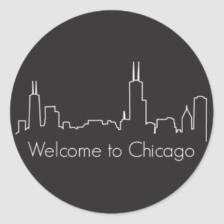 Welcome to Chicago Classic Round Sticker